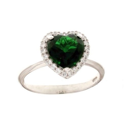 White Gold Woman Ring with Heart 803321732553