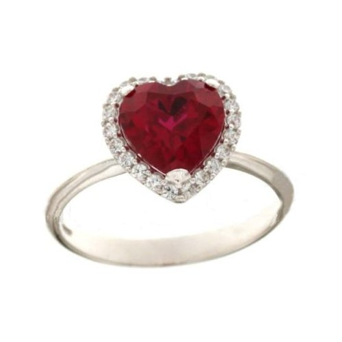 White Gold Woman Ring with Heart 803321732551
