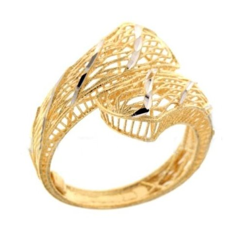Yellow and White Gold Woman Ring 803321731974