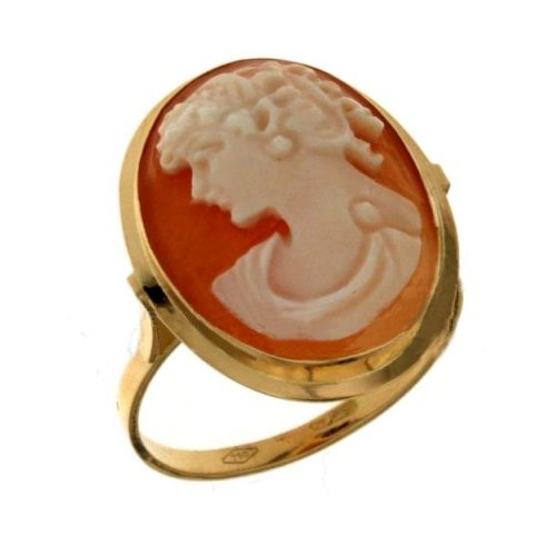 Yellow Gold Woman Ring with Cameo 803321710247