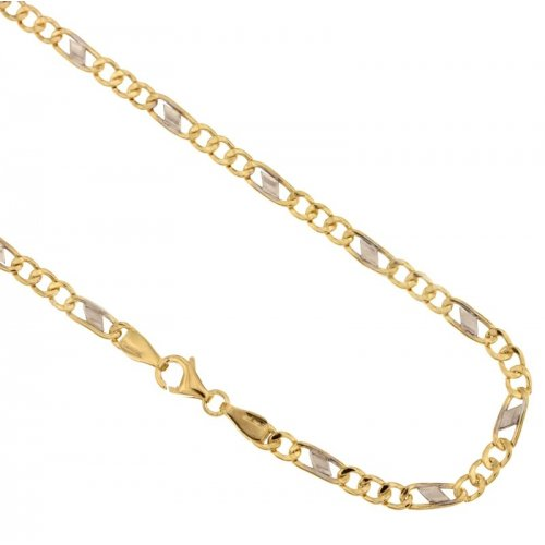 Yellow and White Gold Men's Necklace 803321700278