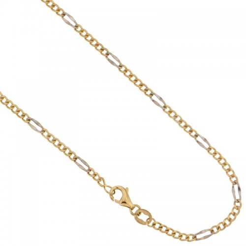 Yellow and White Gold Men's Necklace 803321712434