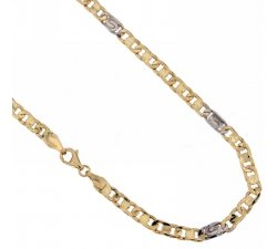 Yellow and White Gold Men's Necklace 803321712335