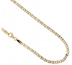 Yellow and White Gold Men's Necklace 803321731245