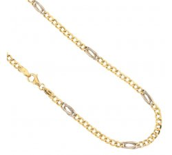 Yellow and White Gold Men's Necklace 803321714651