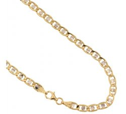Yellow and White Gold Men's Necklace 803321717602