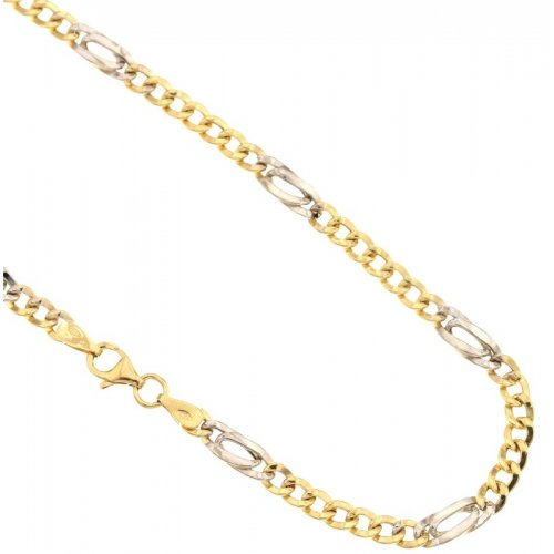 Yellow and White Gold Men's Necklace 803321717669