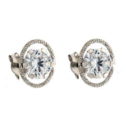 White Gold Point Light Earrings 803321715920