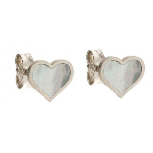 Women's Heart Earrings in White Gold 803321733450