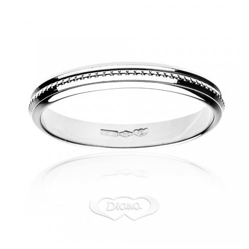 Diana ring in 18 kt white gold FD9N3OB