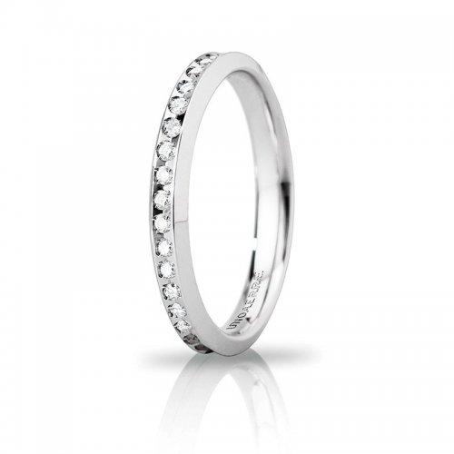 Unoaerre Venere Slim Wedding Ring White Gold Anniversaries