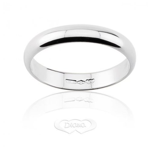 DIANA Wedding Ring 4 grams White Gold Classic Wide Band