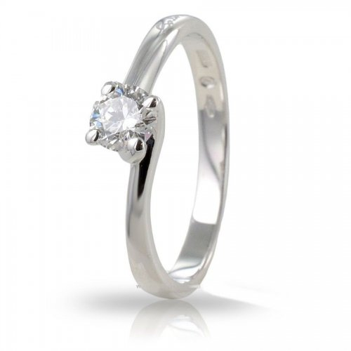 SALVINI women's solitaire ring in white gold and diamonds Ct 0.32 Ref. 20059019