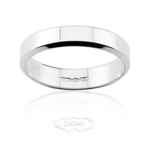DIANA Wedding Ring French White Gold TGL7 OB