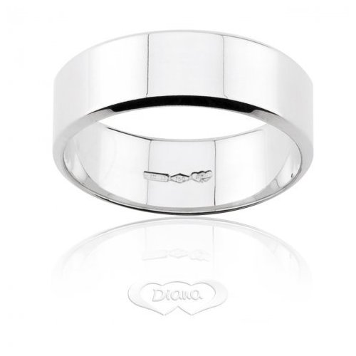 DIANA Wedding Ring White Gold French TGLBE OB