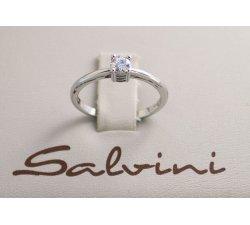 Anello solitario SALVINI in oro bianco e diamante Ct 0,34 Ref. 20016839
