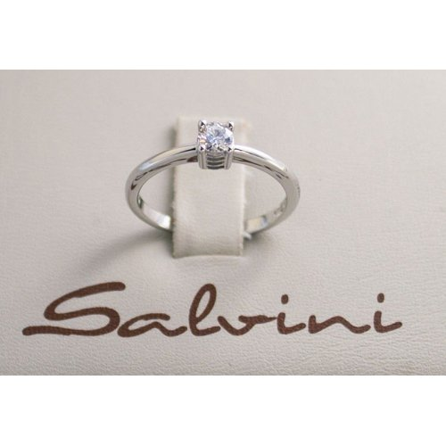 SALVINI solitaire ring in white gold and diamond Ct 0.34 Ref. 20016839