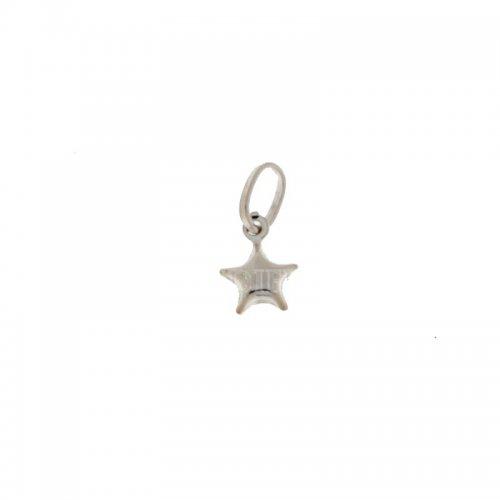 Ciondolo stella oro bianco 803321702836