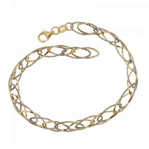 Women's Bracelet Yellow and White Gold 803321719080