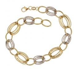 Bracciale da donna Oro giallo e bianco 803321719085