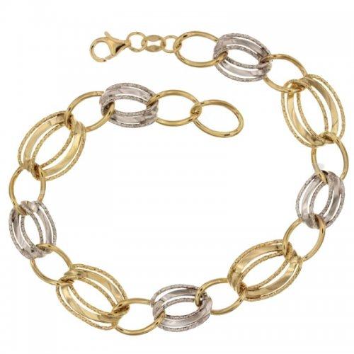 Women's Bracelet Yellow and White Gold 803321719085
