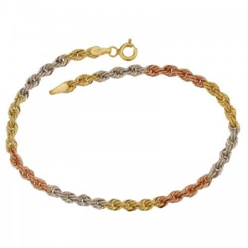 Women's Bracelet Yellow White Rose Gold 803321704538