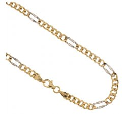 Yellow and White Gold Men's Necklace 803321708057