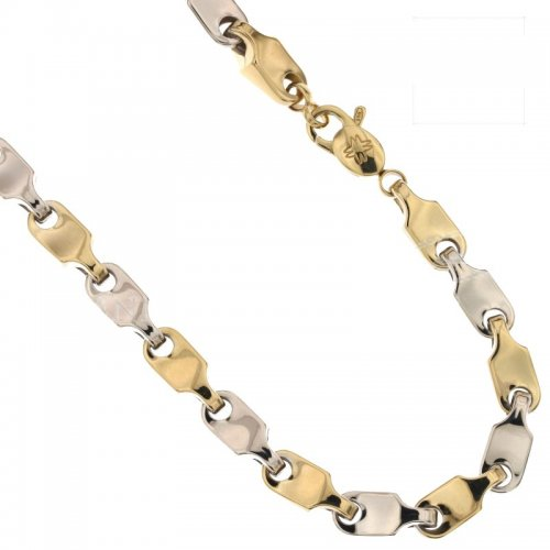 Yellow and White Gold Men's Necklace 803321717959