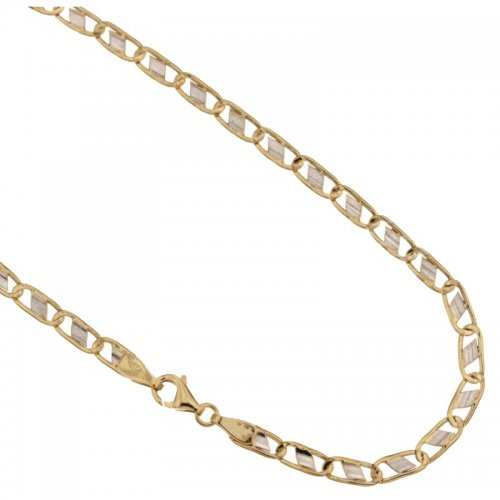 Yellow and White Gold Men's Necklace 803321709727