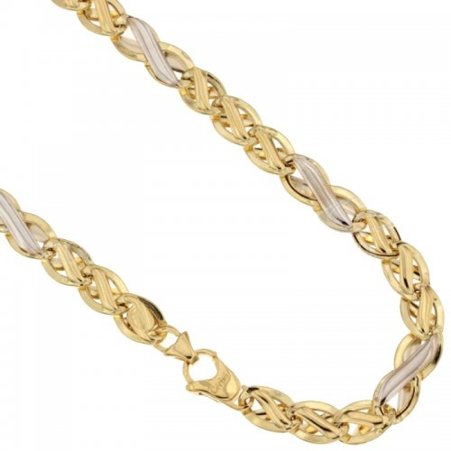 Yellow and White Gold Men's Necklace 803321732382
