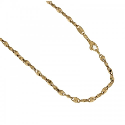 Yellow and White Gold Men's Necklace 803321717482