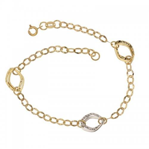 Women's Bracelet Yellow and White Gold 803321719148