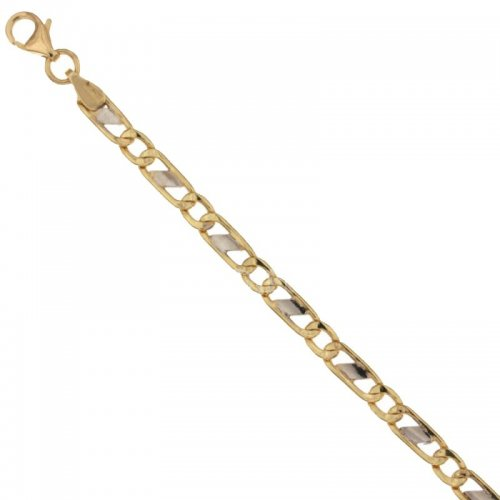 Men's Bracelet in Yellow and White Gold 803321731247