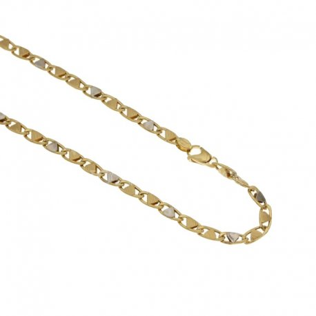 Yellow and White Gold Men's Necklace 803321712142