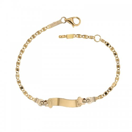 rivenditore di vendita a749a fbe28 Bracciale per bambini in oro giallo e bianco 803321736201 -  GioielleriaLucchese.it