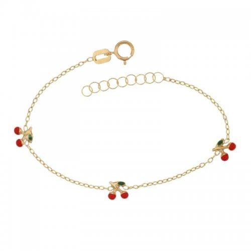 Yellow gold girl's bracelet 803321721722