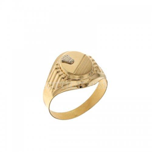 Anello Uomo in Oro Bianco e Giallo 803321715487