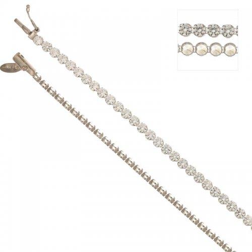 Bracciale tennis unisex in oro bianco 803321712616