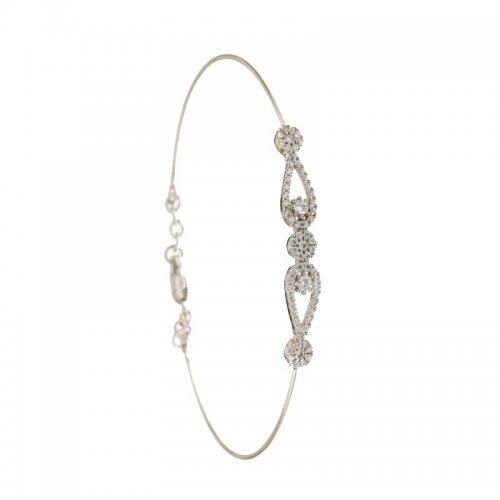 Rigid bracelet for women in white gold 803321722780