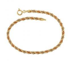 Bracciale donna in oro tre colori 803321700824