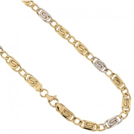 Yellow and White Gold Men's Necklace 803321712308