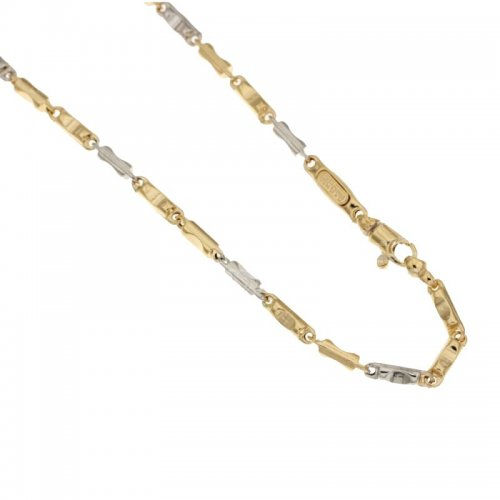 Yellow and White Gold Men's Necklace 803321717444