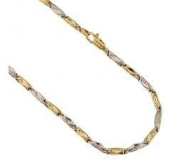 Yellow and White Gold Men's Necklace 803321717860
