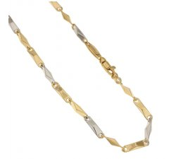 Yellow and White Gold Men's Necklace 803321717636