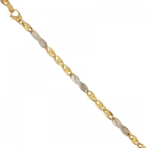 Men's Bracelet in Yellow and White Gold 803321732388