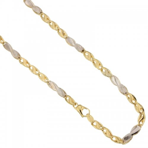 Yellow and White Gold Men's Necklace 803321732376