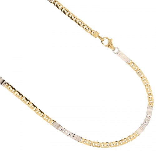 Yellow and White Gold Men's Necklace 803321735548