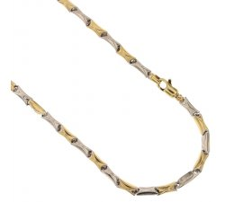 Yellow and White Gold Men's Necklace 803321717537