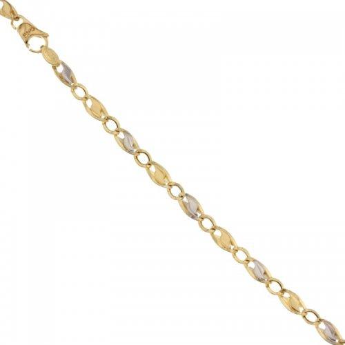 Bracciale Uomo in Oro Giallo e Bianco 803321729953