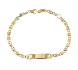 Children's bracelet in yellow and white gold 803321729933